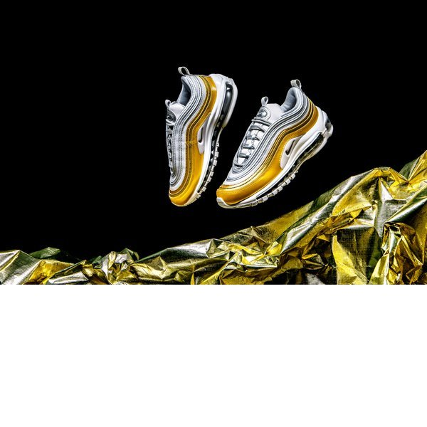 100%정품WMNS 나이키 Nike 에어 AIR Max 97 - Vast Grey / Metallic Silver / Metallic Gold 00319해외무료